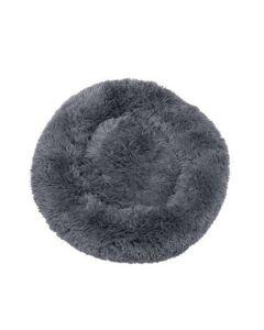Fluffy hundeseng grå