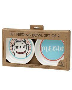 Lucky cat melamin madskåle sæt til katte