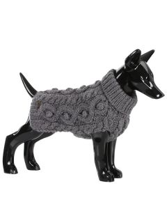 Varm grå ulden hundesweater