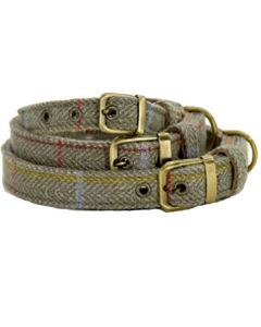 Tweedmill hundehalsbånd grå