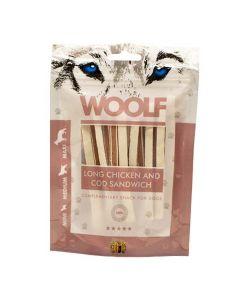 Hundegodbid Woolf kylling/torsk sandwich100g