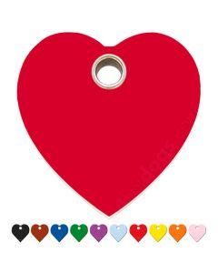 Hundetegn Hjerte medium 10 forskellige farver