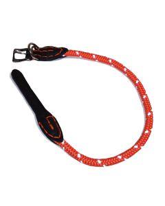 Rundt hundehalsbånd med refleks Orange