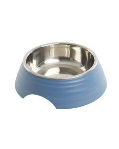 Buster frosted ripple madskål, blå