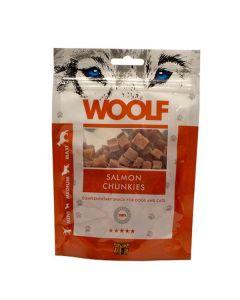 Hundegodbid Woolf lakse chunkies 100g