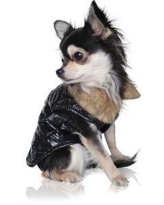 SnowFashion Hundevest med Pelskrave